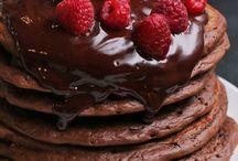 all choc pancakes