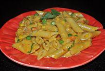 Pasta Recipes / Desi Pasta, Indian style Pasta, Creamy Pasta