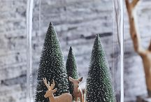 Glass dome decor / Winter / by Victoria Allison