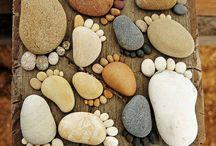 pés de pedras