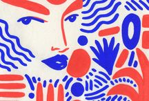 Graphic Fashion illustration / Bold shapes, bright colours, strong lines. Fashion illustration that grabs my attention