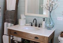 Bathroom concepts / Bathroom mirrors, floral options, etc.