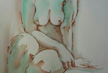 Life drawing at the Sussex County arts club yesterday