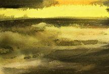 Ny Nordisk Akvarel - et sanseligt eksperimentarium / Akvarellen er omgivet af tabuer, som gør at den ikke har den placering på kunstscenen og som kunstmedie, som den fortjener. Det forsøger især de svenske akvarellister at råde bod på. Her deler jeg om hvordan man kan gøre det mange har lært at de netop ikke skulle gøre. Håber at være med til at skubbe til læsset, så akvarellen bliver ligeså anerkendt som kunstform, som fotografiet endelig er blevet.