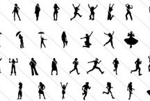 Women silhouette / Simple illustration of working business women with different pose styles.  Some of the key elements in these huge 175 collection of silhouette of women include fashion girls, teens, women shopping, female walking illustration, glamours girls, women holding bags etc. This women silhouette include and comes with EPS files with isolated white background and easy to edit each element is separate.