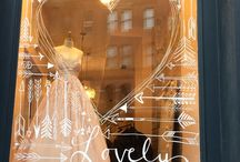 Bridal Showroom Window Display