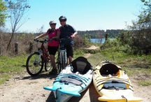 "Paddle and Peddle / ""Paddle"" the North Lake Conroe waterways and the ""Peddle"" on a mountain bike excursion. Kayak and Biking packages with North Lake Conroe Paddling Co."