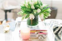 Coffee and Console Table Vignettes / Displays and vignettes