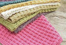 vaskekluter og håndklær / strikket og heklet
