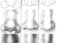 How to draw. / 顔の描き方、パーツ、手、人体など