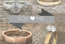 Fingerprint Engagement Rings / Fingerprint Engagement Rings. Fingerprint Rings: You can't make a more Unique Engagement Ring! Made with love just for you.