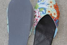 Shoe making / Espadrille soles on a beautiful mess