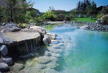 Natural swimming pools / Natural filtration swimming pool designs / by Mog Vgb