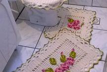 jogos de banheiros em crochê