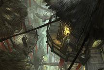 OC: Cities / Cities, destinations, futuristic, art, fantasy