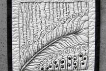 Ultimate...zentangle fabric art