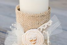 Crafts / Burlap candle