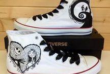 chaussures peintes