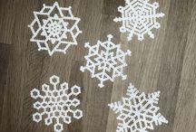 Hama mini beads - xmas ornaments