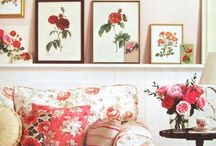 House decoration in a bed of roses