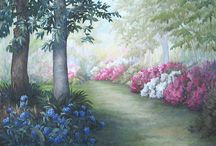 Garden Paintings / We love to see your artistry! Please share your paintings of our Gardens on this board!
