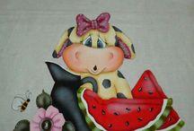 Pinturas em tecido / by Sabrina Farias