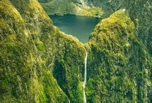 Southland Falls and Lake Quill, NZ.