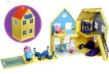 Zabawki - Świnka Peppa / Świnka Peppa to główna bohaterka popularnego brytyjskiego serialu animowanego, który opowiada o życiu codziennym świnki.