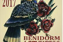 Benidorm Tattoo Convention / Posters de todas las ediciones de la Benidorm Tattoo Convention.