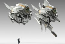 Scifi mech drones