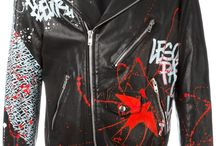 Leather  jacket painted
