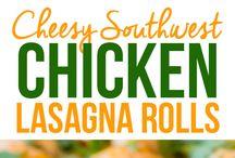 southwest chicken lasagns rolls