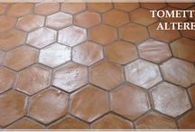 Terre cuite fait a main, carrelage / Combination navada et terre cuite 30x30x2'2 cm