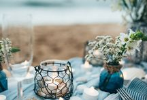 Beachside Wedding Inspiration / Beachside wedding inspiration including everything from place cards, invites, decor, and more! Brought to you by Milroy's Tuxedos.  www.MilroysTuxedos.com