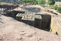 Lalibela - the Rock hewn church / The prominent rock-hewn churches of Lalibela are eleven in number and situated in three groups separated by the seasonal river Jordan.