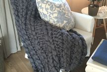 strikket pledd