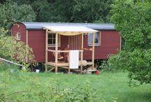 Bauwagen / Umbaudes Bauwagens zu einer Gartenhütte