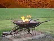 Grill- und Feuerstelle im Garten