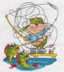 рыбалка вышивка
