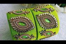 Kundan Bangles Silk Thread
