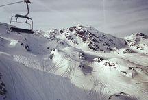 Snow  / Winter, Mountains, Riding, Snowboarding