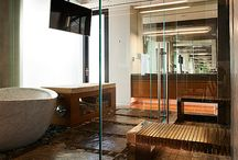 Bathroom Spaces I Love / Bathrooms that are inspiring