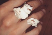 Trunks_branches&petals white collection / Upcycled jewellery