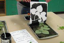 fleurs et feuilles dessins