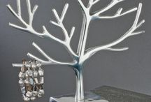 Silver tree jewellery stands