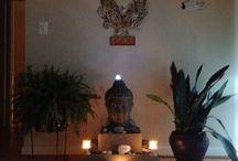 Buddha & candles & ZEN