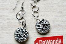 String Collection - DaWanda SHOP ONLINE / la linea di gioielli laminati in argento, disegnati dall'artista Fabio Masotti sono in vendita su DaWanda