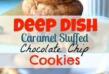 Deep dish Carmel cookies / Dessert