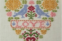 Embroidery / Includes cross stitch, crewel, ribbon embroidery / by Liana Retzlaff