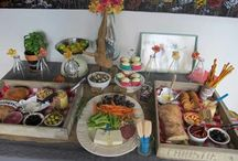 Ambers Italian party food table / vintage style